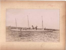 Navire Bateau De Guerre C.1898  DAGUE Croiseur Cuirassé ? - Marine Nationale - Photographs