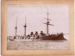 Navire Bateau De Guerre C.1898  LE TAGE Croiseur Cuirassé ? - Marine Nationale - Photographs