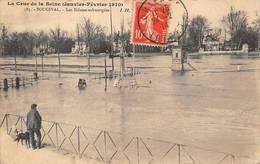 Bougival écluses écluse Péniche Péniches Crue Inondation Inondations 1910 - Bougival