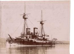 Navire Bateau De Guerre C.1898  L INDOMPTABLE Croiseur Cuirassé ? - Marine Nationale - Anciennes (Av. 1900)