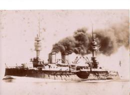 Navire Bateau De Guerre C.1898  L INDOMPTABLE Croiseur Cuirassé ? - Marine Nationale - Photographs