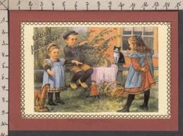 98463/ FANTAISIE, Carte Artisanale, Collage, Pièce Unique, Enfants - Phantasie