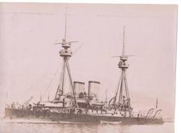 Navire Bateau De Guerre C.1898  LE CAÏMAN Croiseur Cuirassé ? - Marine Nationale - Anciennes (Av. 1900)