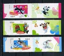 ADHESIFS N° 271 - 272 - 273 FETE DU TIMBRE 2009 Avec VIGNETTES ATTENANTES NEUFS ** - Adhesive Stamps