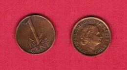 NETHERLANDS  1 CENT 1962 (KM # 180) #5498 - [ 3] 1815-… : Kingdom Of The Netherlands