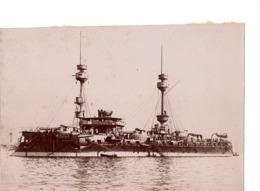 Navire Bateau De Guerre C.1898  AMIRAL BAUDIN Croiseur Cuirassé ? - Marine Nationale - Photographs