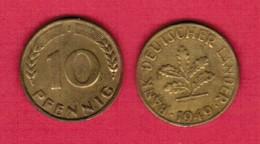 GERMANY  10 PFENNIG 1949 J (KM # 103) #5501 - 10 Pfennig