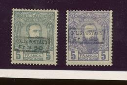 Colis Postaux.4 Et 5 Neufs Avec Charnière Et Certificats. Cote 1600,-euros - 1884-1894 Voorgangers & Leopold II