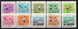 RA'S AL KHAIMA - 1965 - PAN ARAB GAMES - CAIRO - MNH - Ra's Al-Chaima