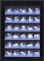 Färöer Kleinbogen Weihnachtsmarken 2001 Postfrisch MNH (Wei836 - Faroe Islands