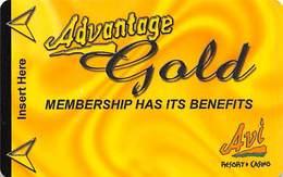 AVI Resort & Casino Laughlin, NV - BLANK Slot Card - ACC Over Mag Stripe - Carte Di Casinò