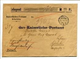 Görlitz 1916 Kriegsanleihe Wertbrief  Kaiserliches Postamt Görlitz - 100 Mark - Deutschland