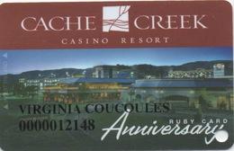 Cache Creek Casino Resort CA : Anniversary Ruby Card - Cartes De Casino