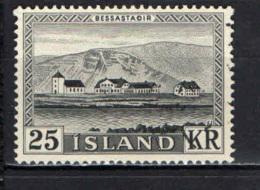 ISLANDA - 1957 - RESIDENZA PRESIDENZIALE DI BESSASTADIR - USATO - 1944-... Repubblica