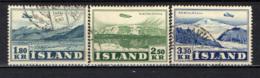 ISLANDA - 1952 - AEREOPLANO IN VOLO SUI GHIACCIAI DELL'ISLANDA - USATI - 1944-... Repubblica
