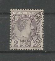 Monaco Yvert 2 Prince Charles III Oblitéré Used 1885 Cote: 35,00€ - Monaco
