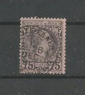 Monaco Yvert 8 Prince Charles III Oblitéré Used 1885 Cote: 150,00€ - Monaco