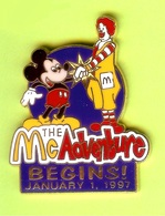 Pin's Mac Do McDonald's Disney Mickey Ronald The McAdventure Begins! January 1, 1997 RARE - 5EE07 - McDonald's