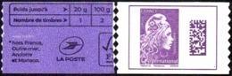 France Autoadhésif N° 1656 A ** Datamatrix.  Marianne L'Engagée International De Carnet - Adhesive Stamps