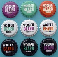 9 Russian Unused Wooden Beard Beer Bottle Caps Crown Cork Caps Capsules Cápsulas - Bier