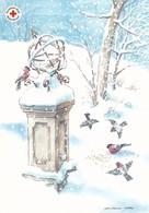 Postal Stationery - Birds - Bullfinches In Winter Landscape - Red Cross 2004 - Suomi Finland - Postage Paid - Postwaardestukken