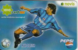 PORTUGAL - Rui Costa, Pepsi, Novis Promotion Prepaid Card, Used - Sport