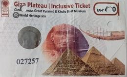 EGYPT | Giza Plateau | Enterance Ticket | (Egypte) (Egitto) (Ägypten) - Tickets D'entrée