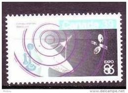 Canada, 1986, #1079, Télécom, Téléphone, Satellite, Espace, Phone, Space - Telecom
