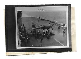 Photo 1944 - Porte-Avions - Barracuda Sur Le Pont Du Bateau - - 1939-45