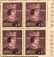 "POR#4678-Block Of 4 MNH Stamps Of 10 Centavos - ""Dinastia De Avis - D. João I"" - Portugal - 1949 - Blocchi & Foglietti"