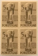 """POR#4670-Block Of 4 MNH Stamps Of 5 Escudos - """"XVI. Congresso Internacional Da História Da Arte"""" - Portugal - 1949 - Blocchi & Foglietti"""