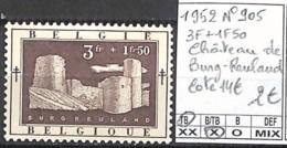 NB - [844756]TB//*/Mh-c:14e-Belgique 1952 - N° 905, Burgreuland, Châteaux - Castles