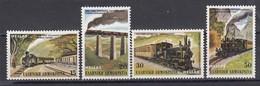 Grece 1984 - Trains, Set Of 4 Stamps, MNH** - Ungebraucht