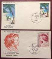 PF06 Polynésie Française Écologie Papeete PA128 Rubens PA129 FDC Premier Jour 1977 Lot 2 Lettre - FDC
