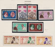 Burundi: Oltre 230 Francobolli Di Cui Solo 11 Scansioni, Anni 1960-1970 Ed Oltre, Su Fogli Di Album. - Burundi
