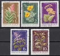 Russia 1972 Sc. 3953/3957 Piante Medicinali Full Set Nuovo CTO Aloe Papavero Morella... - Flora