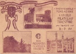 TRENTENNALE CIRCOLO FILATELICO TRIESTINO 1950 ADUNATA FILATELICA    (FEB20427) - Esposizioni Filateliche
