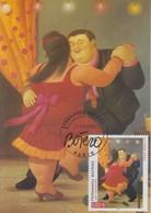 Carte  Maximum  1er  Jour   FRANCE   Oeuvre  De   Fernando   BOTERO    2002 - 2000-09