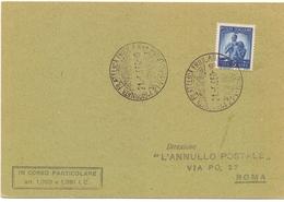 GIORNATA FILATELICA 1950 FRIULI DIREZIONE ANNULLO POSTALE     (FEB20427) - Esposizioni Filateliche