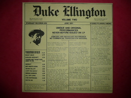 LP N°2134 - DUKE ELLINGTON - VOL.2 - STARDUST RECORDS 202 - DISQUE EPAIS - VOIR AUSSI MES CD - Jazz