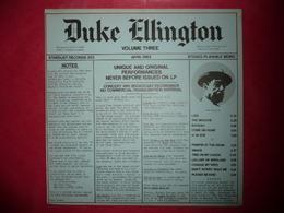 LP N°2135 - DUKE ELLINGTON - VOL.3 - STARDUST RECORDS 203 - DISQUE EPAIS - VOIR AUSSI MES CD - Jazz