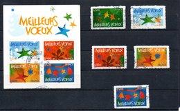 B279 France Oblitéré N° 3722 à 3726 (timbres ** + Oblitération Philatélique) - Used Stamps