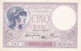 5 F  1939 - 1871-1952 Anciens Francs Circulés Au XXème
