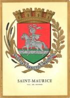 94 - SAINT MAURICE BLASON CARTE DE VOEUX 1979 - Saint Maurice