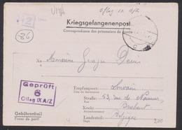 """Guerre 40-45 - Lettre """"Kriegsgefangenenpost"""" Expédié Du Oflag IX A Vers Louvain - Covers"""