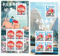 France 5295/5298 Feuillet Nouvel An Chinois Année Du Cochon  Neuf ** TB MNH Sin Charnela Faciale 10.9 - Frankreich