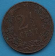 NEDERLANDEN  2½ Cents 1905  KM# 134 Wilhelmina - 2.5 Cent