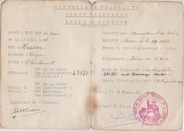 Ordre De Mission De Déc 1939 à Juin 1940 / SDS Secteur Défensif De La Sarre / Cie Du Train - 1939-45