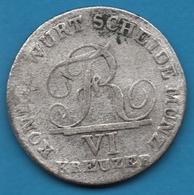 KÖNIGR. Württemberg VI KREUZER 1807 Friedrich I KM# 495 Silver (.333) KÖNIGL.WÜRT.SCHEIDEMÜNZ. - [ 1] …-1871 : German States