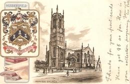 """Huddesfield. Parish Church""  Tuck Heraldic Series PC # 191 - Tuck, Raphael"